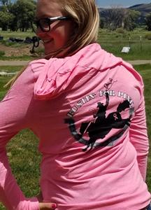 Pink Zip Sweat Shirt Bustin Back