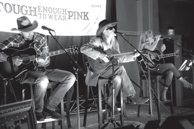 (L-r) Powell, Dillon and Carter perform during the event.  2016 TETWP Concert Crested Butte
