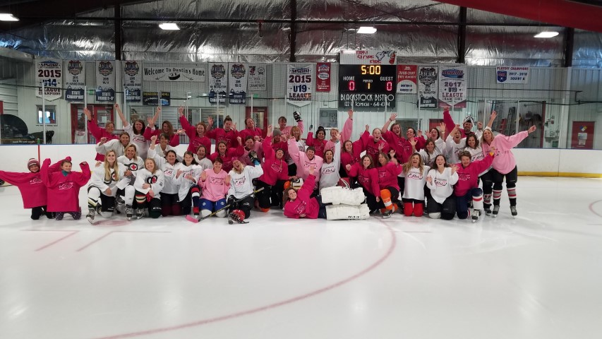 2018 TETWP Pink in the Rink Women's Hockey Tournament , Gunnison, CO