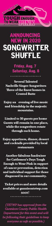 Gunnison TETWP Songwriter Shuffle Info