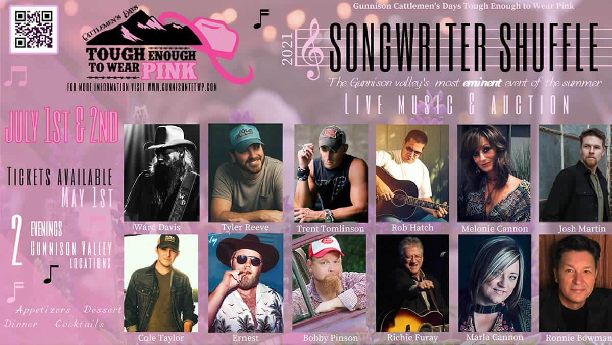 2021 Gunnison Cattlemen's Days TETWP Songwriter Shuffle Banner
