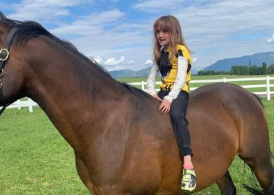 Abby on a Horse in Whitefish MT