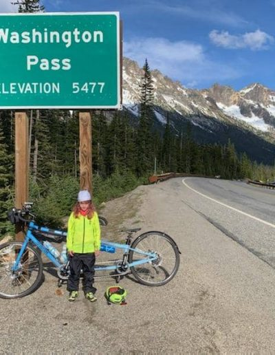 Abby makes it to the top of Washington Pass!