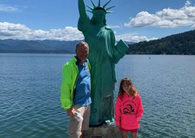 Statue of Liberty Sandpoint ID